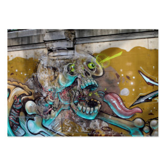 Frightened Skull Large Business Cards (Pack Of 100)