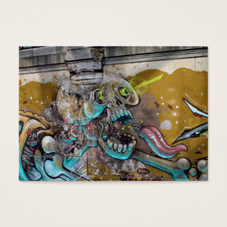 Frightened Skull Business Card