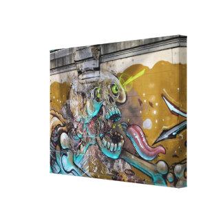 Frightened Skull Canvas Print