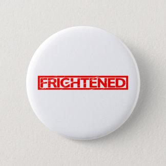 Frightened Stamp Pinback Button