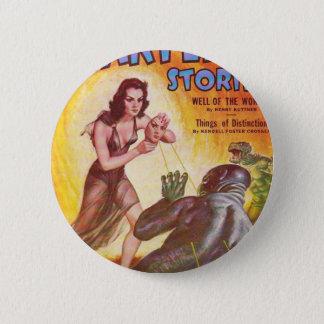 Frightened Swamp Man Pinback Button