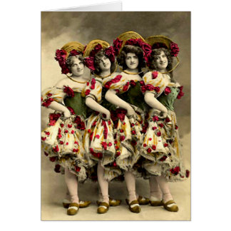 Frightening Cancan Dancers Card