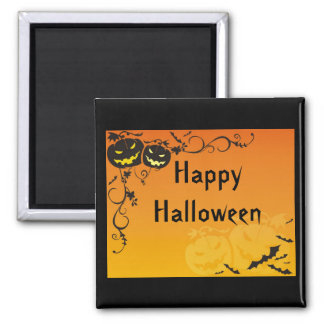 Frightening Pumpkins Halloween Magnet