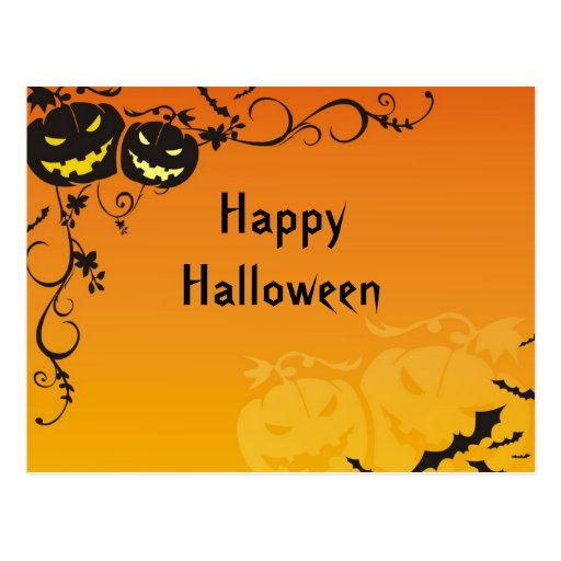 Frightening Pumpkins Postcard