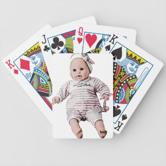 frightful doll bicycle playing cards