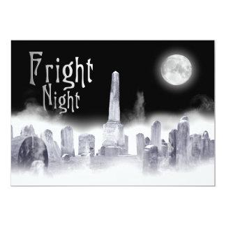 FrightNight Halloween Invitation-Ghostly-Graveyard Card