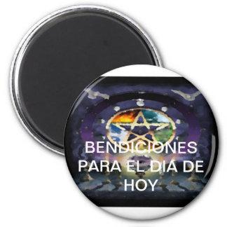 Frigo-Pin De La Suerte Coleccion Bendicion Wicca Imán Redondo 5 Cm