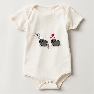 Frijolitos del amor traje de bebé