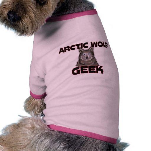 Friki ártico del lobo camisas de mascota