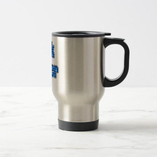 Friki azul 4ever de la tela escocesa tazas de café