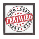 Friki certificado caja de recuerdo de calidad