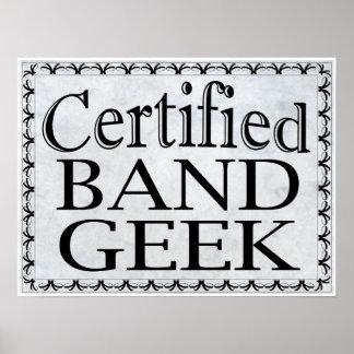 Friki certificado de la banda impresiones