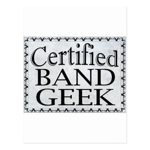 Friki certificado de la banda tarjeta postal