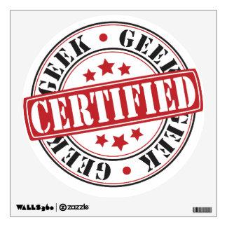 Friki certificado vinilo adhesivo