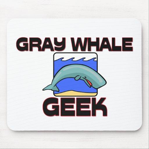 Friki de la ballena gris alfombrilla de ratón