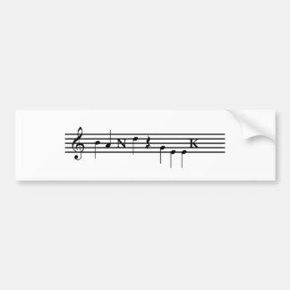 Friki de la banda etiqueta de parachoque