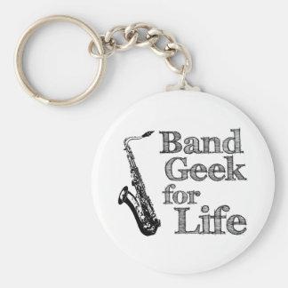Friki de la banda del saxofón llaveros personalizados