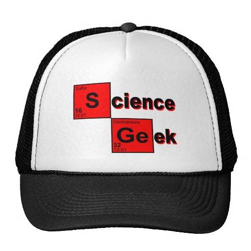 Friki de la ciencia gorras de camionero