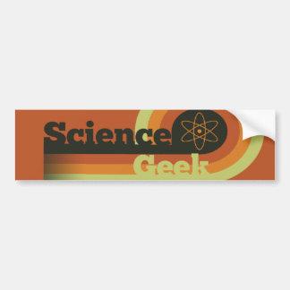 Friki de la ciencia pegatina para auto
