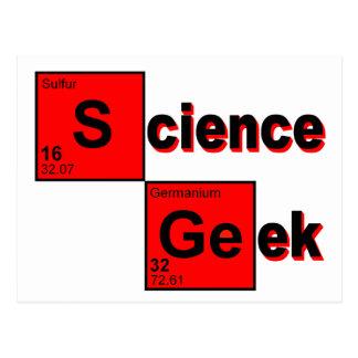 Friki de la ciencia tarjeta postal