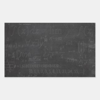 Friki de la matemáticas rectangular altavoces