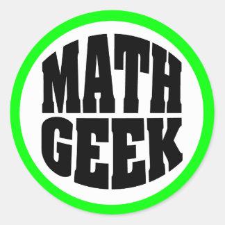 Friki de la matemáticas pegatina redonda