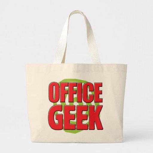 Friki de la oficina bolsa lienzo