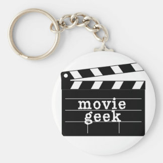 Friki de la película con la tablilla llavero redondo tipo pin