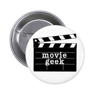 Friki de la película con la tablilla pin