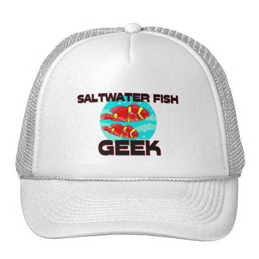 Friki de los peces de agua salada gorro