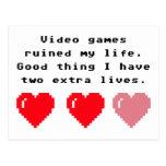 Friki de los videojuegos postal