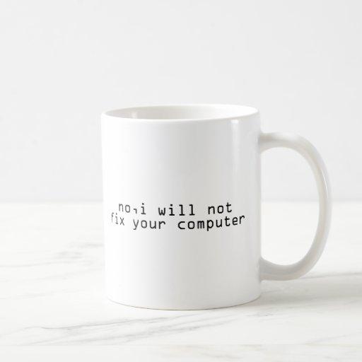 Friki de Techie del fijador del ordenador Taza De Café