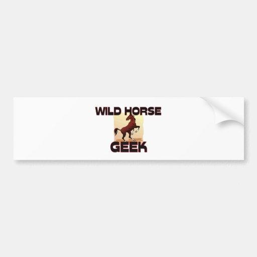 Friki del caballo salvaje pegatina de parachoque