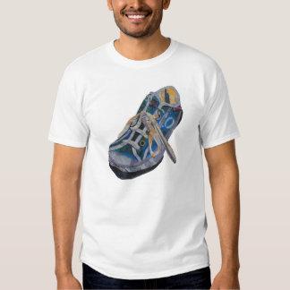 Friki del collage del Slob de la zapatilla de Remera