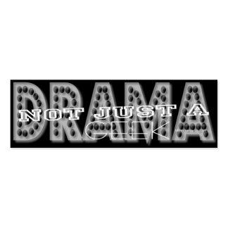 Friki del drama - tarjeta personal de los medios