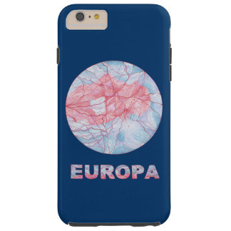 Friki del espacio de la luna de Júpiter del Europa Funda De iPhone 6 Plus Tough
