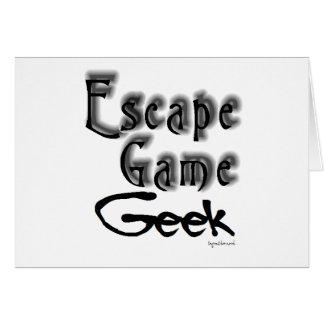 Friki del juego del escape felicitaciones