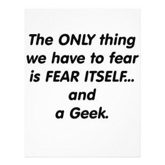 Friki del miedo flyer a todo color