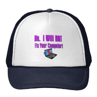 Friki del ordenador gorras de camionero