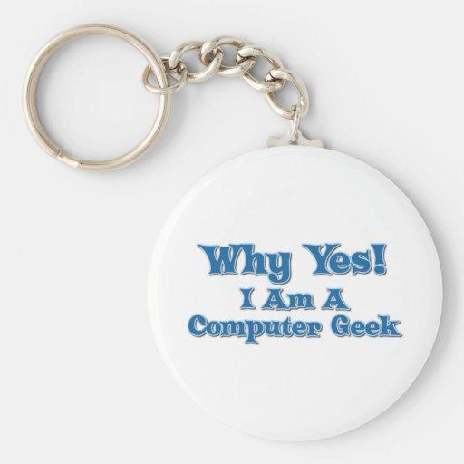 Friki del ordenador llaveros