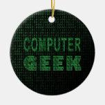 Friki del ordenador ornamente de reyes