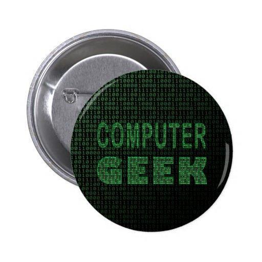 Friki del ordenador pin