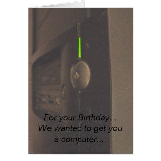 Friki del ordenador tarjeta de felicitación