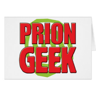 Friki del prión tarjeta de felicitación