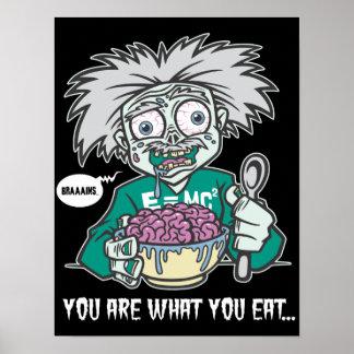 Friki del zombi póster