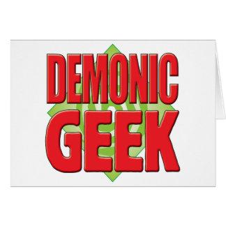 Friki demoníaco v2 tarjeta de felicitación