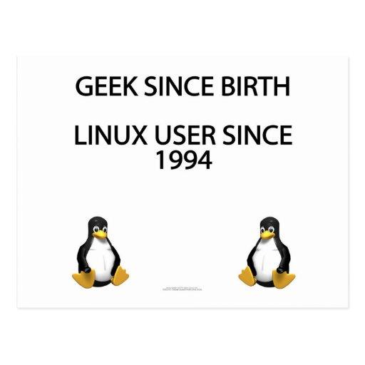 Friki desde nacimiento. Usuario de Linux desde 199 Tarjetas Postales