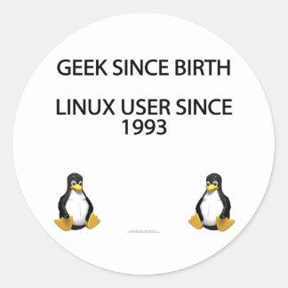 Friki desde nacimiento. Usuario de Linux desde Pegatinas Redondas