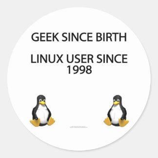 Friki desde nacimiento. Usuario de Linux desde Pegatina Redonda