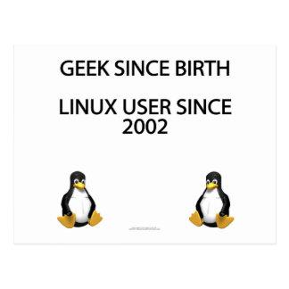 Friki desde nacimiento. Usuario de Linux desde Postales